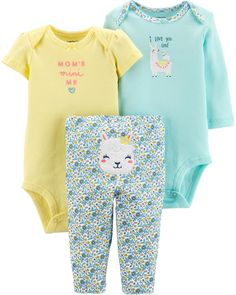 82fb21303 Baby Girl 3-Piece Llama Little Character Set | Carters.com Baby Girl Closet