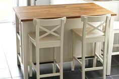 INGOLF Bar stool with backrest, white - zoomly