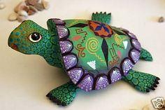 Turtle Oaxaca Wood Carving Oaxacan Mexican Folk Art | #44205115