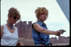 Thelma And Louise - Publicity still of Susan Sarandon & Geena Davis. The image measures 3072 * 2048 pixels and was added on 13 September Thelma And Louise Movie, Geena Davis, Denim Corset, Ridley Scott, Susan Sarandon, Making A Movie, Film Aesthetic, Girl Gang, Film Director