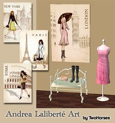 Mod The Sims - Wall Art for your Fashion Shops! - Part 2