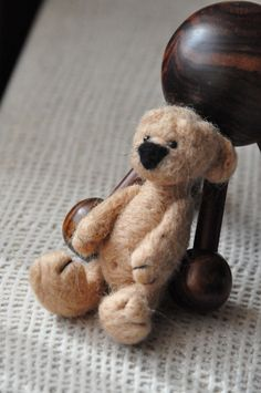 needle felted Bear cub ))) very cute