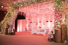 Weddings Discover The Desi Vintage Bride - The A-Cube Project Pictures Reception Stage Decor, Wedding Backdrop Design, Desi Wedding Decor, Wedding Stage Design, Wedding Hall Decorations, Luxury Wedding Decor, Wedding Reception Backdrop, Marriage Decoration, Wedding Mandap