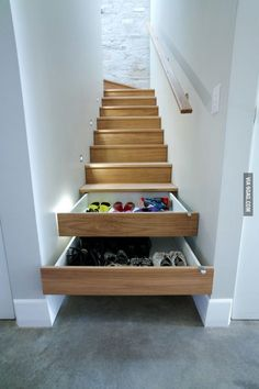 Functional stairs. I would have to make sure they were self closing otherwise this would be a very bad idea. (found on 9gag.com)