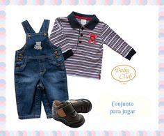Overall de Denim Mi Carrito by Baby Club Chic.
