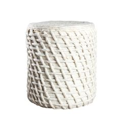 Raw Wool Pouf
