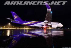 TG221/222 First A350 Landing at HKT