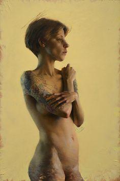 "Daniel Sprick -"" Destiny"", oil on panel, 30 x 20"