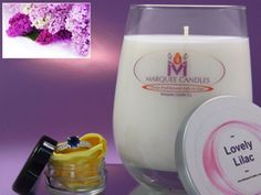 Lovely Lilac Scented Marquee Candle with Fine Jewelry Prize Inside.