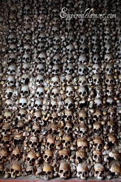 Monforte, Portugal bone chapel (Capela dos Ossos) the smallest of the Portuguese bone chapels.