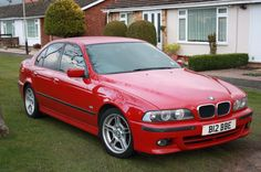 BMW e39 Imola red - Detailing World dirty car comes good. Loads of pictures