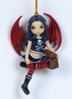 Jasmine Becket Griffith Pirate Fairy Ornament [7286] - $14.95 : Mystic Crypt, the most unique, hard to find items at ghoulishly great prices!