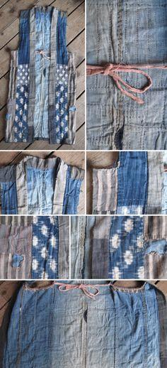 Image of Japanese Sashiko Boro Vest