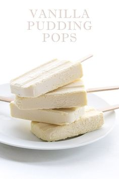 low carb vanilla pudding popsicles
