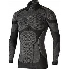 Alpinestars Ride Tech Winter base layers do more than just look like science-fiction. The honeycomb open mesh structure of the material yields maximum… Forma Adventure, Black Tops, Black And Grey, Tactical Clothing, Winter Tops, Motorcycle Outfit, Warm Outfits, Men's Outfits, Mens Fitness