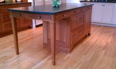 Kitchen Island Table Combo Style Working Beautiful Seating Inspiredfurniture With