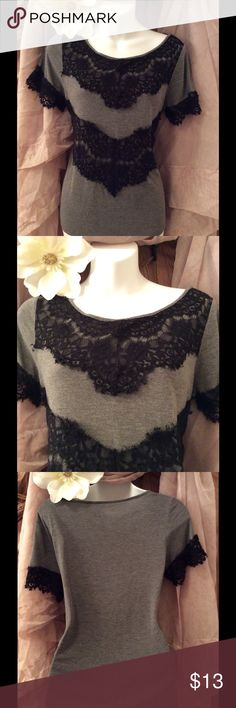 💕a.n.a 💕 top 💕 Beautiful Black fringe lace A.N.A Top. Petite M, Very Pretty on! In Excellent condition. Made of Gray 100% Rayon, LACE is made of 48% Rayon 27% Cotton 25% Nylon. RN # 93677 Made in Indonesia. 💕 If you have any questions please feel free to ask, Also Thank you so much for taking a moment to visit my closet! 👍🤗💕I hope you find something that you love! Leave your posh name in the comments so I can check out your closet as well! Thanks, Happy Poshing! 😍😘 a.n.a Tops