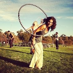 Hooping is more than just good for your physical health, it's good for your mental health too! People who hoop are generally happy about hooping. :)