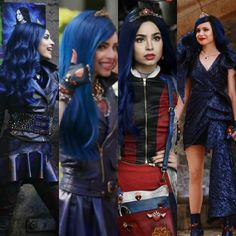 Favorite Evie outfit in Descendants Mine is either the 'Good To Be Bad' outfit or her 'Motosport' outfit. ❤ Favorite Evie outfit in Descendants Mine is either the 'Good To Be Bad' outfit or her 'Motosport' outfit. Descendants Music, Descendants Characters, Disney Channel Descendants, Disney Channel Stars, Descendants Pictures, Sofia Carson, Cameron Boyce Descendants, Big Family Photos, Mal And Evie