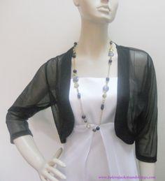Black Chiffon Bolero Jacket