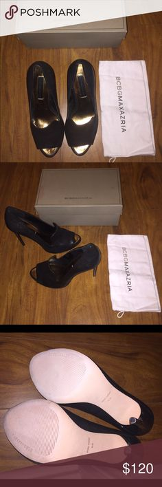 Demi Pump peep-toe stiletto Never worn comes with brand new dust bag the box got dirty in storage but I can still send them in it if you want BCBGMaxAzria Shoes Heels