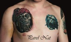 Realism tattoo on breast by Pavel Nat