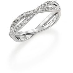 De Beers Infinity Diamond & 18K White Gold Full Band Ring ($3,600) ❤ liked on Polyvore