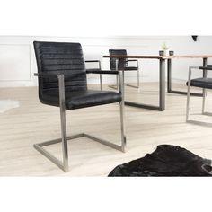 Vrijdragende zweefstoel Imperial antiek zwart - 37079