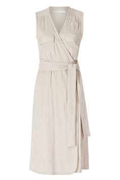 DVF Mellany Linen Wrap Dress