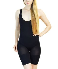 Another great find on #zulily! Black Jacquard Seamless Shaper Bodysuit #zulilyfinds