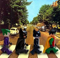 Lego Batman Imitating Beatles Photo Album Cover