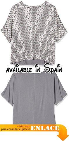 B01EKFXZ2A : s.Oliver T-shirt Kurzarm - Camiseta Mujer Grau (94A1) ES 46 (DE 44).