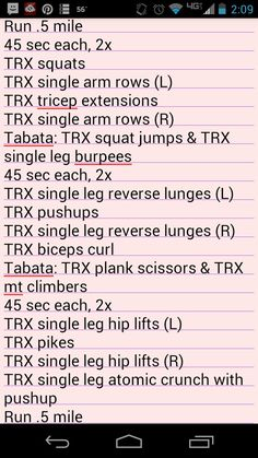 Saturday Shots - TRX and Tabata workout