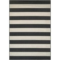 Couristan Afuera Yacht Club Indoor/Outdoor Area Rug x (Onyx-Ivory), Black Rug Company, Indoor Outdoor Area Rugs, Outdoor Living, Outdoor Cabana, Outdoor Decor, Yacht Club, Mold And Mildew, Dream Decor, Woven Rug