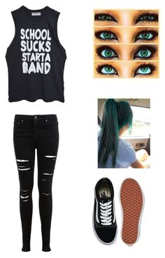 """""""5sos concert"""" by afreespirit ❤ liked on Polyvore featuring Miss Selfridge and Vans"""