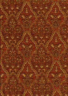 Upholstery Fabrics - Paisley - Mahogany 5268 By Barrow/Merrimac Fabrics