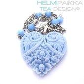 Vaaleansininen sydän - Helmipaikka Oy - Joka päivä on korupäivä - Helmipaikka.fi - Tea Design kaulakorut necklaces