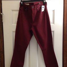 Skinny jean Gap skinny jean stretch maroon color GAP Pants Skinny
