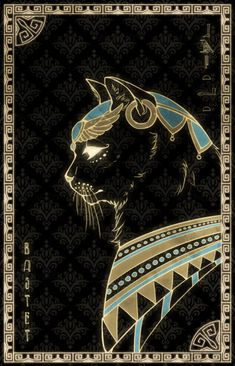 Bastet- The sun, cats, happiness, pleasure Bast Goddess, Egyptian Cat Goddess, Egyptian Cats, Egyptian Mythology, Goddess Art, Egyptian Symbols, Ancient Egyptian Art, Egyptian Artwork, Tattoo Chat