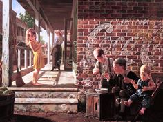Childhood in Pictures - Bob Byerly http://www.byerleyart.com/ That's just like Laura, spying on her brothers. :o)