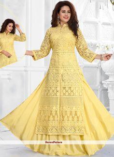 Buy from the latest range of designer collection of salwar kameez. Buy this net salwar kameez for ceremonial, festival, mehndi and party. Dress Indian Style, Indian Fashion Dresses, Indian Designer Outfits, Indian Outfits, Designer Dresses, Indian Wear, Salwar Designs, Kurti Designs Party Wear, Lovely Dresses