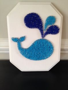 Whale Nail String Art on Etsy, $35.00
