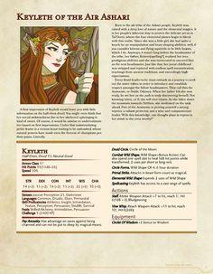 Princess Keyleth of the Air Ashari Dungeons And Dragons 5e, Dungeons And Dragons Characters, Dungeons And Dragons Homebrew, Dnd Characters, Fantasy Characters, Character Sheet, Character Concept, Science Fiction, Elf Druid