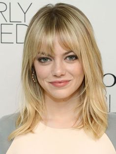 Emma Stone- love this hairstyle.