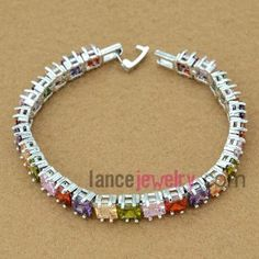 Classic mix color zirconia beads decorated bracelet