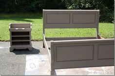 Thinking of painting my sleigh bed (now oak). Maybe white and gray?