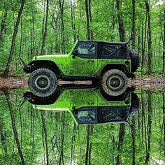 Post with 14744 votes and 440784 views. Tagged with photography, satisfying, jeep, symmetry, reflection; The most satisfying picture I have seen today. Cj Jeep, Jeep 4x4, Jeep Truck, Jeep Wrangler, Jeep Rubicon, Jeep Verde, Supercars, Van 4x4, Autos Toyota