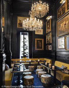 The Palazzo Dama design hotel Rome: The most chic hotel in Rome in 2016 - Elle Decoration Restaurant Interior Design, Luxury Interior, Home Interior, Interior Design Kitchen, Modern Interior Design, Interior Design Inspiration, Bathroom Interior, Restaurant Interiors, Interior Walls
