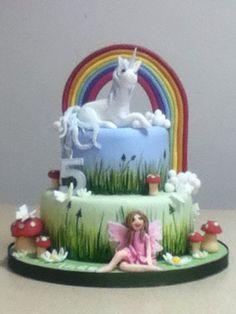 Unicorn and fairy cake