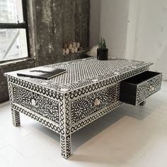 Bone Inlay Console from SOUK.co.nz